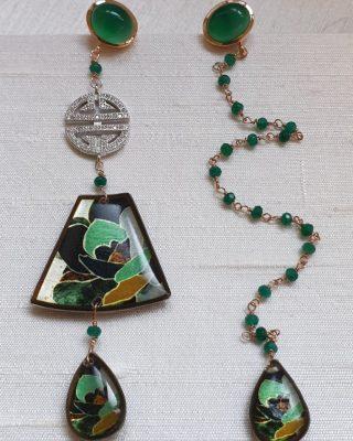 •Fortemente appesi a un filo• Collezione Hanà #alloveyou #earrings #hana #silverjewelry #green #hope #gioielliemozionali #madeinitaly #artisanal #beunique #jewels #trattareconcuraportarecongioia #alloveyoujewels @alloveyoujewels