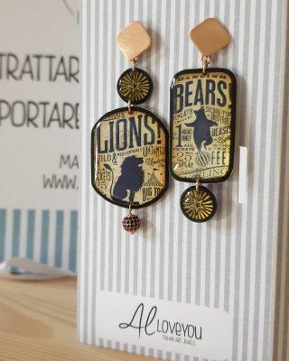 •Nel circo della vita, un po' leoni e un po' orsi• Collezione Circus Disponibile online www.alloveyou.it #alloveyou #earrings #silverjewels #madeinitaly #artisanal #beunique #trattareconcuraportarecongioia #lion #bear #circus #alloveyoujewels @alloveyoujewels